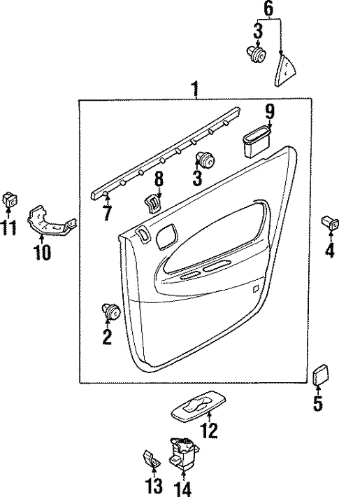 Interior Trim - Rear Door for 1997 Mazda Protege #0