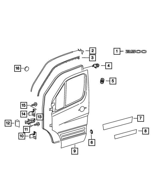 07-09 Dodge Sprinter 2500 3500 Left Or Right Front Door Check Strap Mopar New