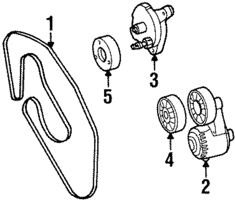 Belts & Pulleys for 1998 Mercedes-Benz S 500 #0