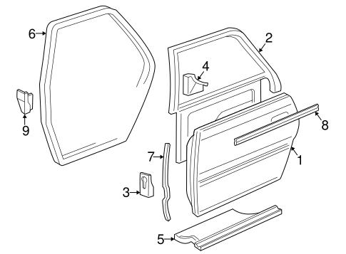 Door Components For 2003 Audi A8 Quattro