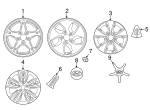 Wheel Assembly-Aluminum - Hyundai (52910-G2120)