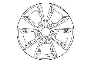 Wheel - Hyundai (52905-G2450)