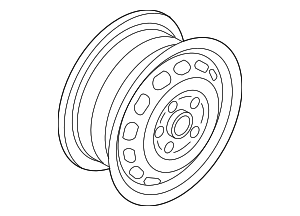 Wheel, Alloy - Volkswagen (3C8-601-025-Q-8Z8)