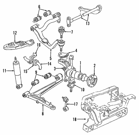 Suspension Control Arm and Ball Joint Assembly Front Right Upper fits VW EuroVan