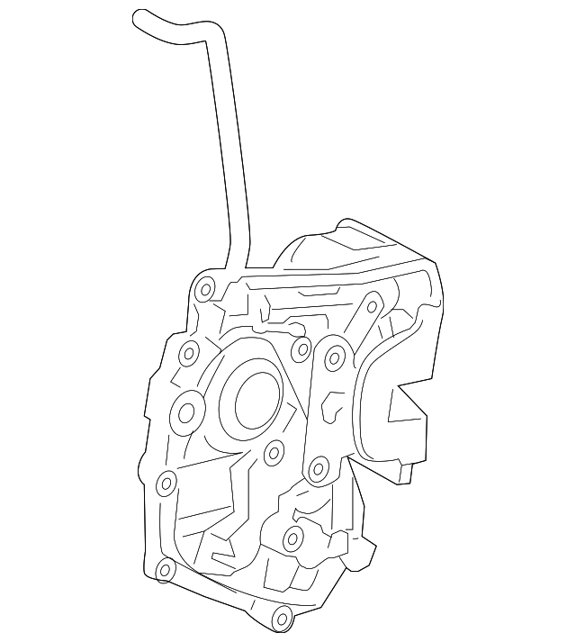 2014 Scion Iq Transmission: Latch Assembly, R Front Door Power