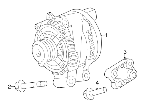 Alternator For 2018 Land Rover Discovery