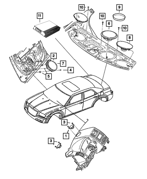 [SCHEMATICS_48EU]  Radio, Antenna, Speakers, DVD, and Video systems for 2013 Dodge Charger |  Mopar One Online | 2013 Dodge Charger Engine Diagram |  | Mopar One Online