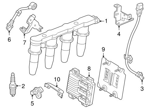 oem 2012 chevrolet cruze ignition system parts