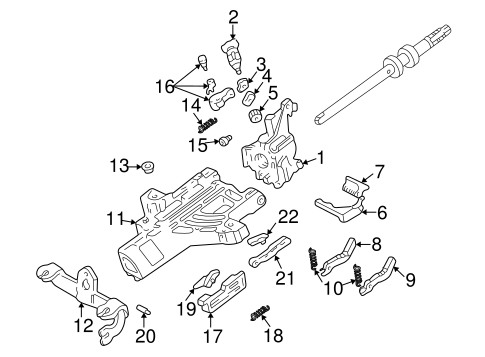 Steering/Housing & Components for 2008 Ford Ranger #2