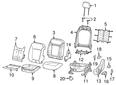 Driver Seat Components For 2018 Jeep Compass