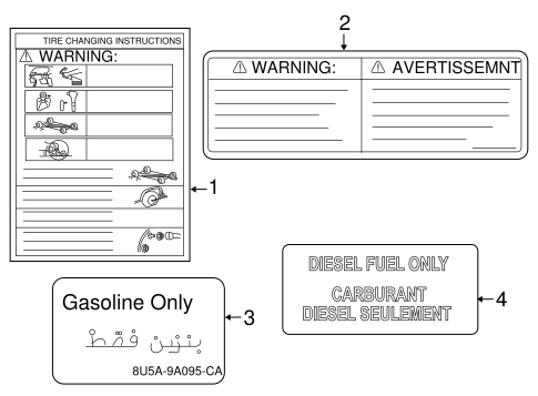 Body/Labels for 2008 Ford F-350 Super Duty #1