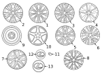 Wheel, Alloy - Lexus (42611-30D60)