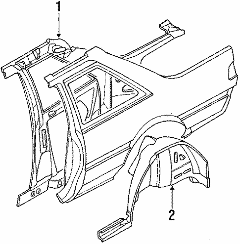 Inner Components for 1988 Subaru RX #1