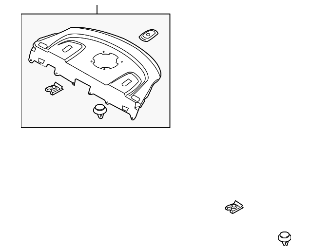 2013 2016 Hyundai Genesis Coupe Pkg Tray Trim 85610 2m121