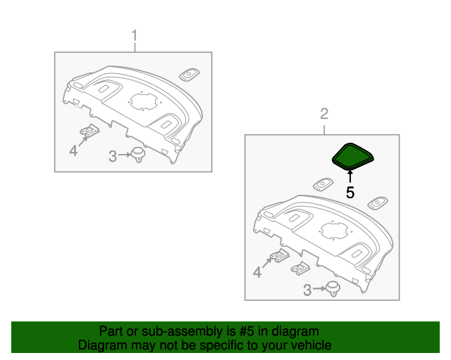 Genuine Hyundai 97315-2M000-9P Defroster Nozzle Cover Assembly