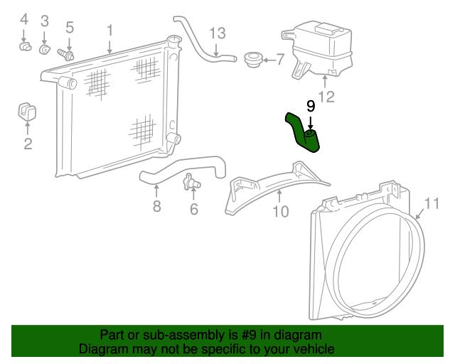 Mazda 1F80-61-313 HVAC Heater Hose