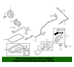 Ford F  Lincoln Mark Lt Engine Oil Filter Adapter Gasket