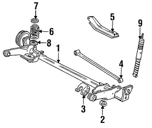 oem 1986 oldsmobile cutlass ciera rear suspension parts