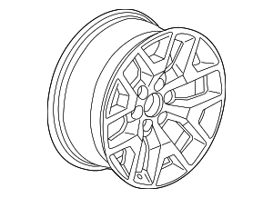 Wheel, Alloy - GM (22837233)