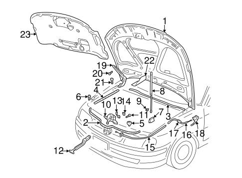 Oem Vw Hood Components For 1999 Volkswagen Passat