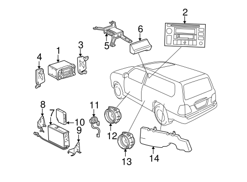 BODY/SOUND SYSTEM for 2002 Toyota Land Cruiser #1