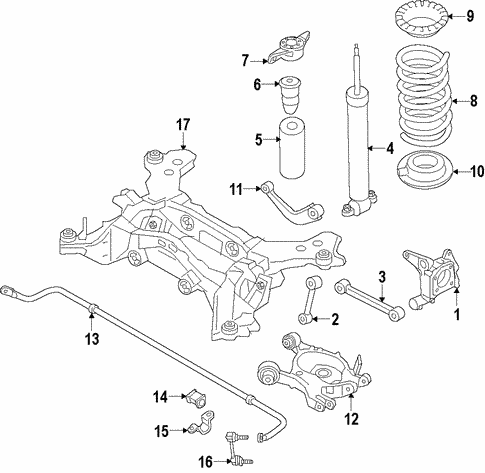 Rear Suspension/Rear Suspension for 2017 Ford Fusion #1
