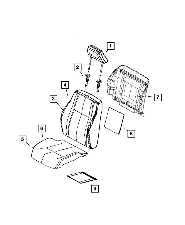 Right Front Honda Genuine 81131-TS8-A01ZA Seat Cushion Trim Cover