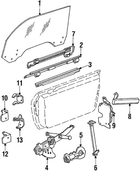 Door For 1987 Pontiac Fiero Gmpartsdirect Com