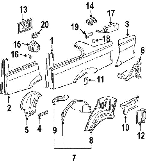 Quarter Panel & Components for 1994 BMW 325is #0