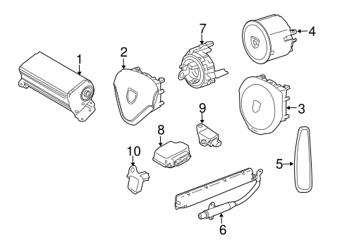 Air Bag Components For 2013 Porsche 911
