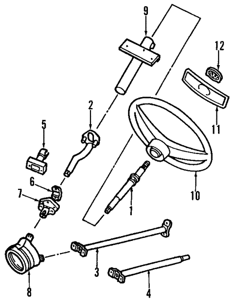 steering/steering column & wheel for 1984 volkswagen vanagon #1