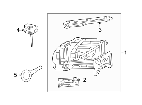 Body/Jack & Components for 2012 Ford Explorer #1