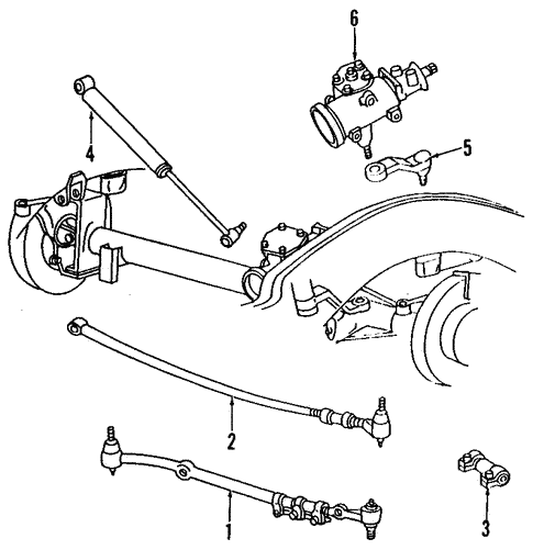 1997 Dodge 2500 Steering Components Diagram