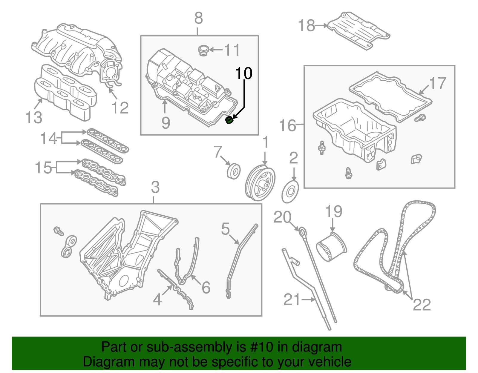 Mazda Mpv Parts Diagram Engine Oem Valve Cover Seal Aj Ebay Dodge Ram Truck