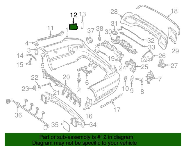 Radar Sensor Mercedes Benz 000 905 88 02 27