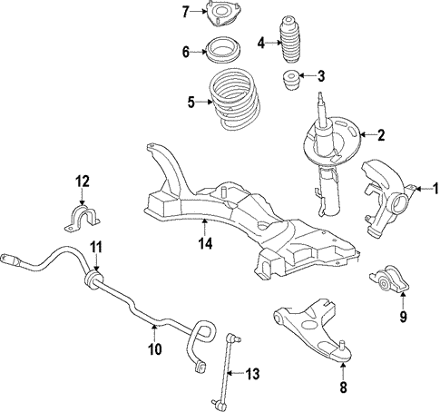 Front Suspension/Suspension Components for 2011 Ford Focus #1