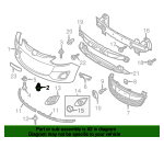 Grille Assembly Rivet - Mazda (EA01-50-037)