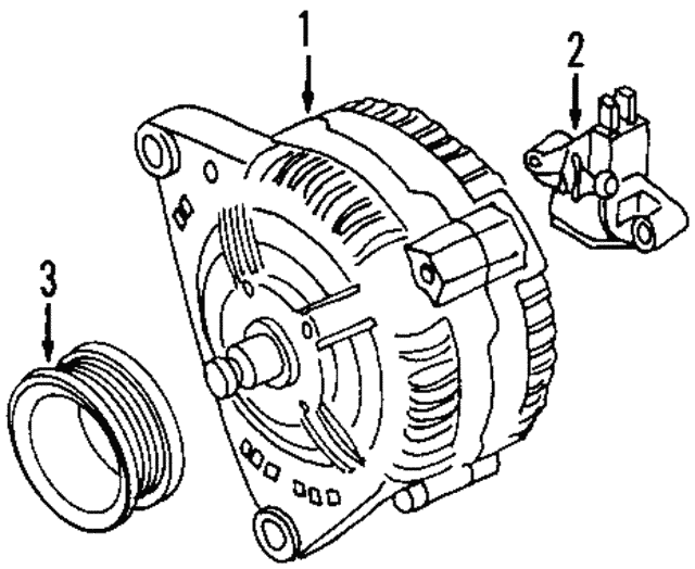 Alternator - Volkswagen (022-903-023-D)