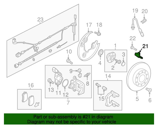 Audi Sensor Wht 003 858 B Oemaudiparts