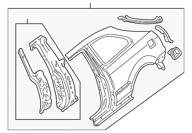 Panel Set, R Rear (Outer)