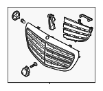 Grille Assembly - Mercedes-Benz (205-880-69-06)