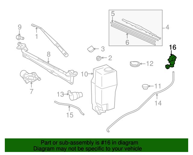 Genuine Toyota 85381-04040 Windshield Washer Nozzle Sub Assembly