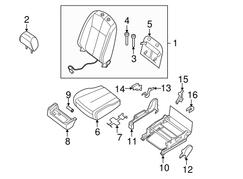 Front Seat Components For 2010 Nissan Altima