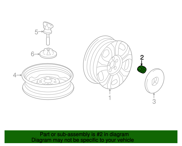 Nut, Wheel (Fuse Rashi)