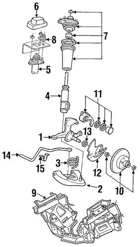 ford expedition front suspension diagram stabilizer bar & components for 1988 ford thunderbird