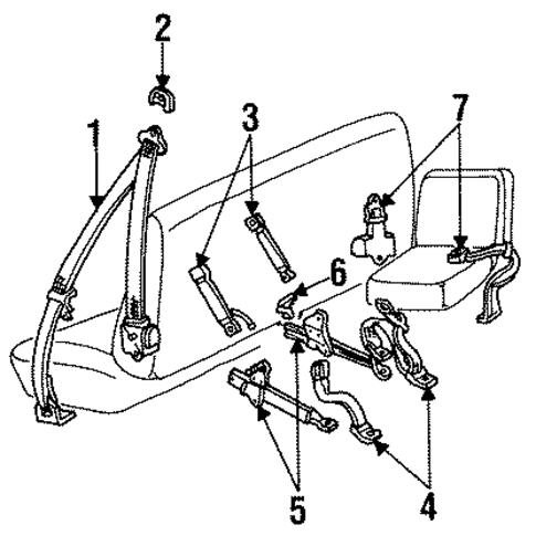 Front Seat Belts Scat