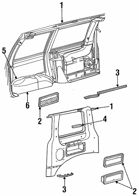 Interior Trim - Side Panel for 1987 Ford Aerostar #1