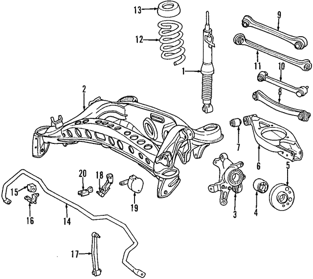 Shock Absorber - Mercedes-Benz (210-320-06-31)
