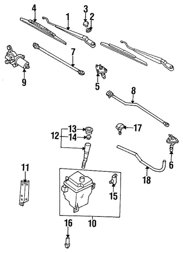 Wiper Transmission - Nissan (28842-40U00)