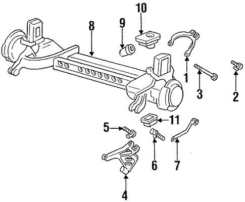 Rear Suspension For 1996 Cadillac Deville Gm Parts Online